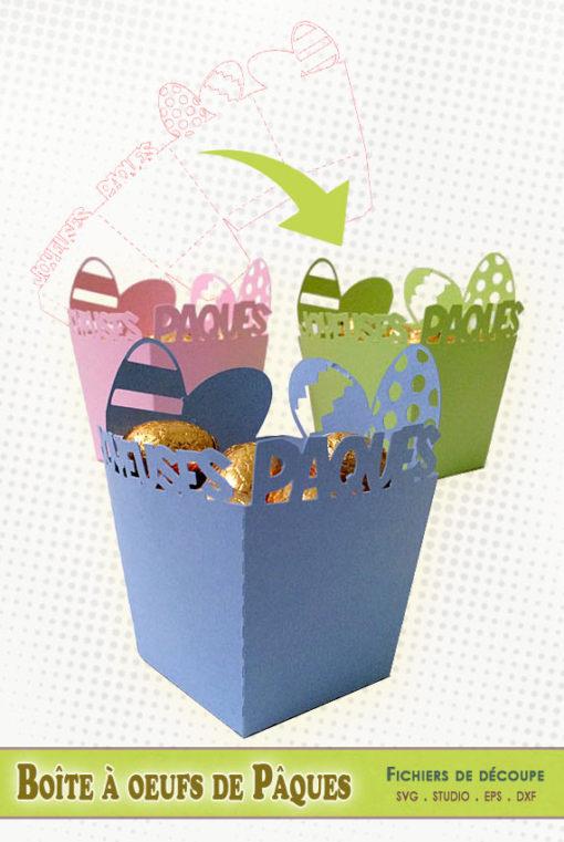 patron découpe boite oeufs pâques easter eggs box cutting file silhouette studio cameo portrait cricut scanncut svg