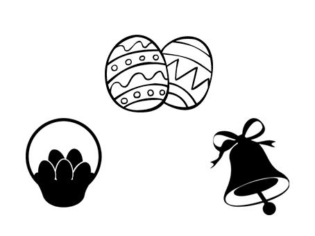 pâques fichier gratuit silhouette studio cameo portrait vectoriel free vector file easter egg