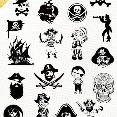 pirate fichier svg silhouette studio eps dxf cameo portrait cricut scanncut vector files