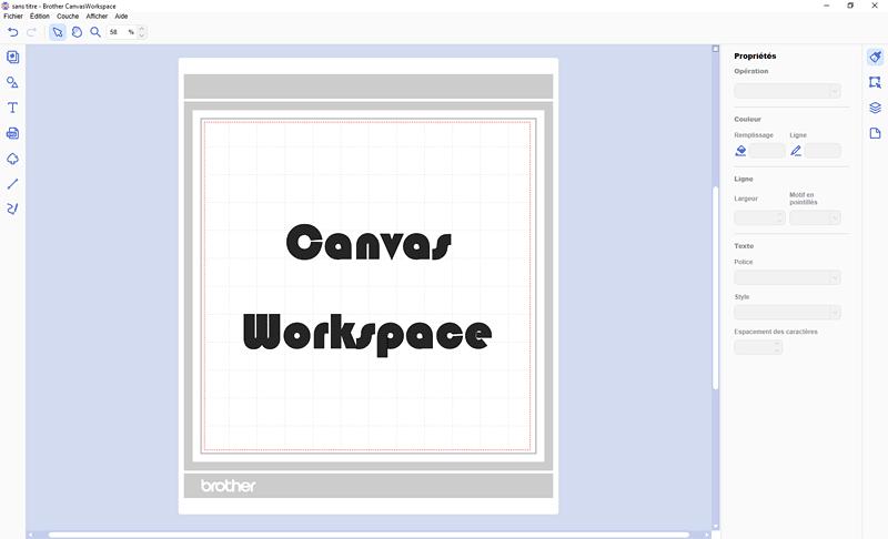 brother canvas workspace logiciel scanncut français