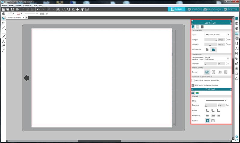 nouveautés silhouette studio 4 barre d'outils déplaçables