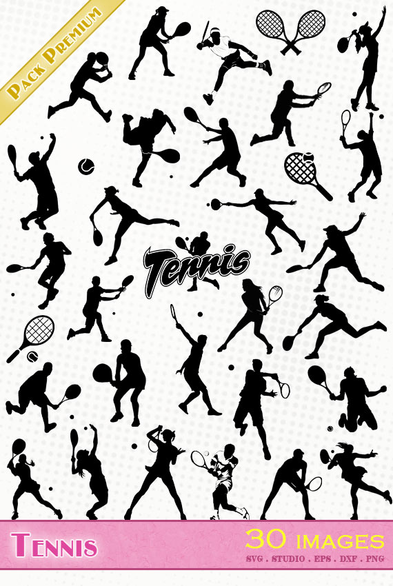 Tennis – 30 images svg/studio/png/dxf/eps