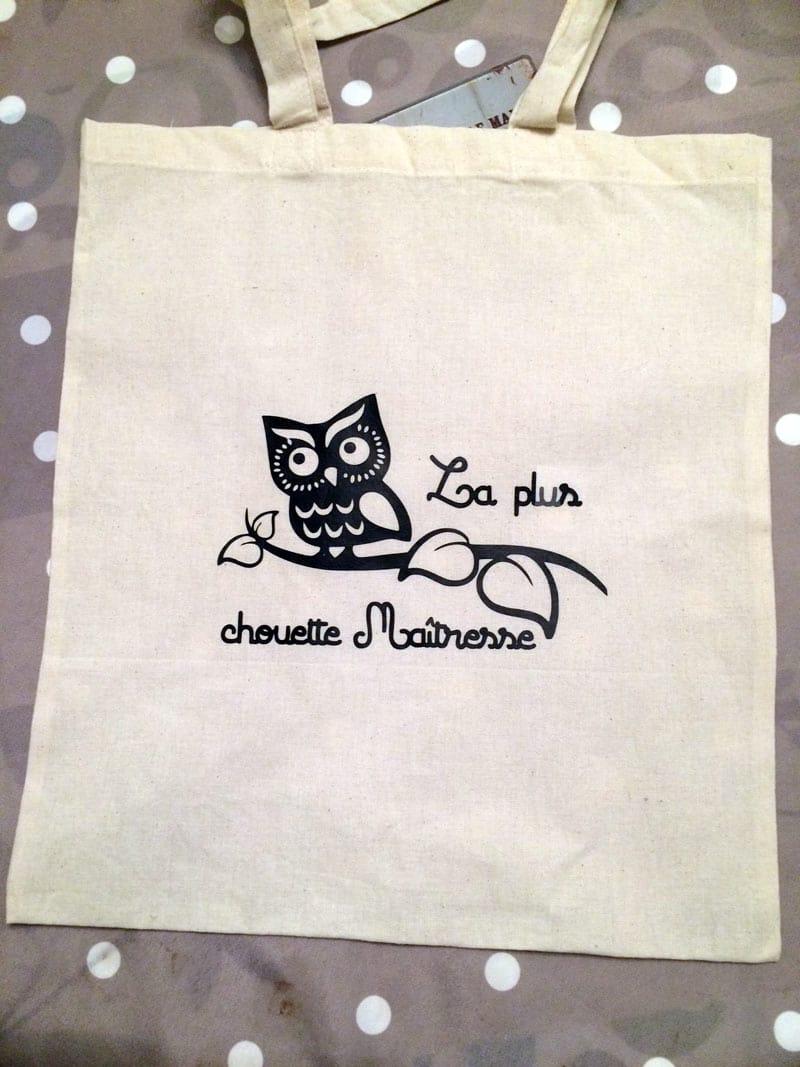 idée cadeau maîtresse atsem avs fin d'année école tote bag sac personnalisé