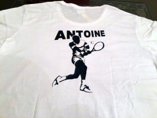 T-Shirts de tennis personnalisés