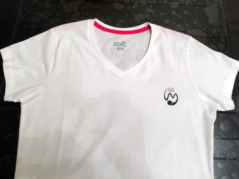 t-shirt tennis personnalisé prénom logo silhouette caméo portrait flex