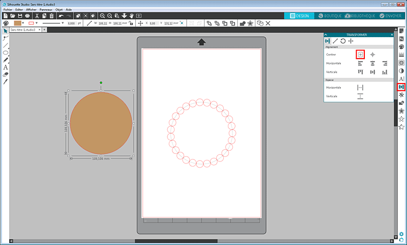 tuto cercle festonné silhouette studio tutoriel totorial scalloped circle how to