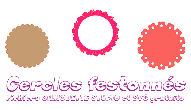 cercle festonné svg gratuit fichier silhouette studio scalloped circle free download