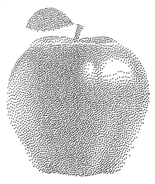 silhouette curio cameo pointillés stippling