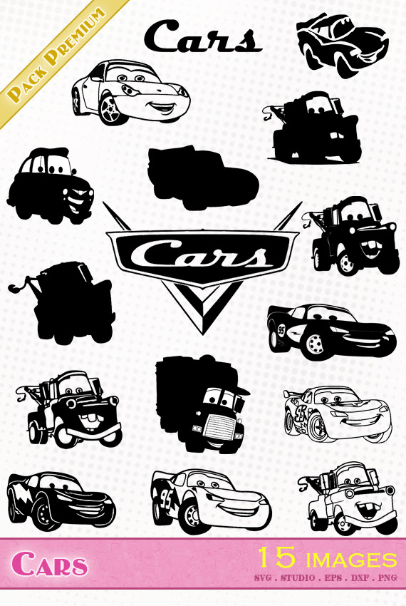 Cars – 15 images svg/studio/png/dxf/eps
