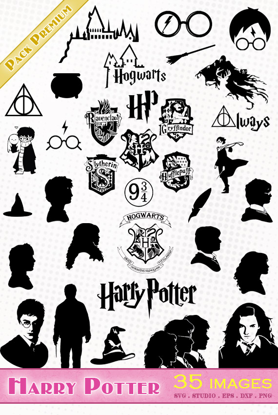 Harry Potter – 35 images svg/studio/png/dxf/eps