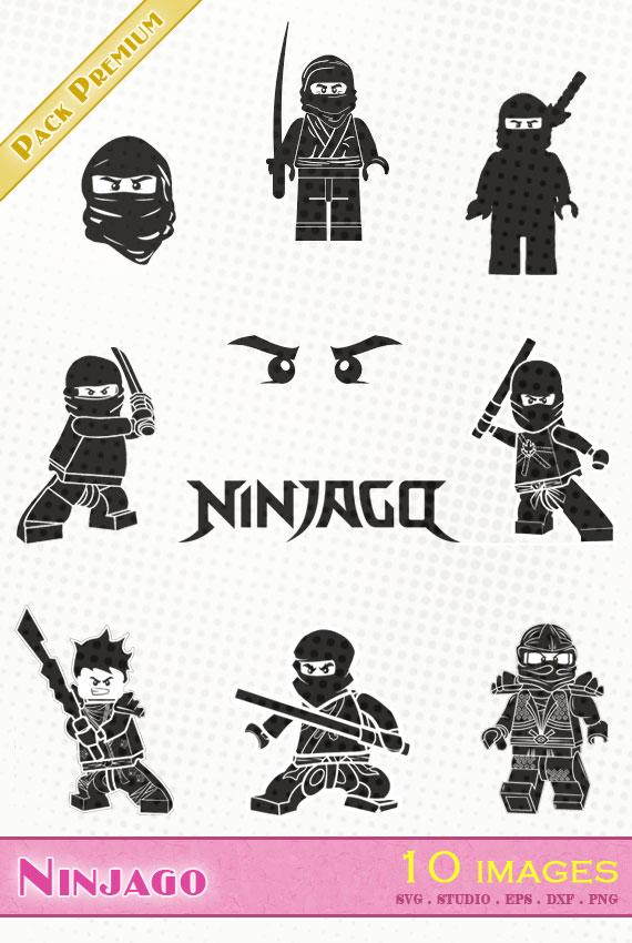 Ninjago – 10 images svg/studio/png/dxf/eps