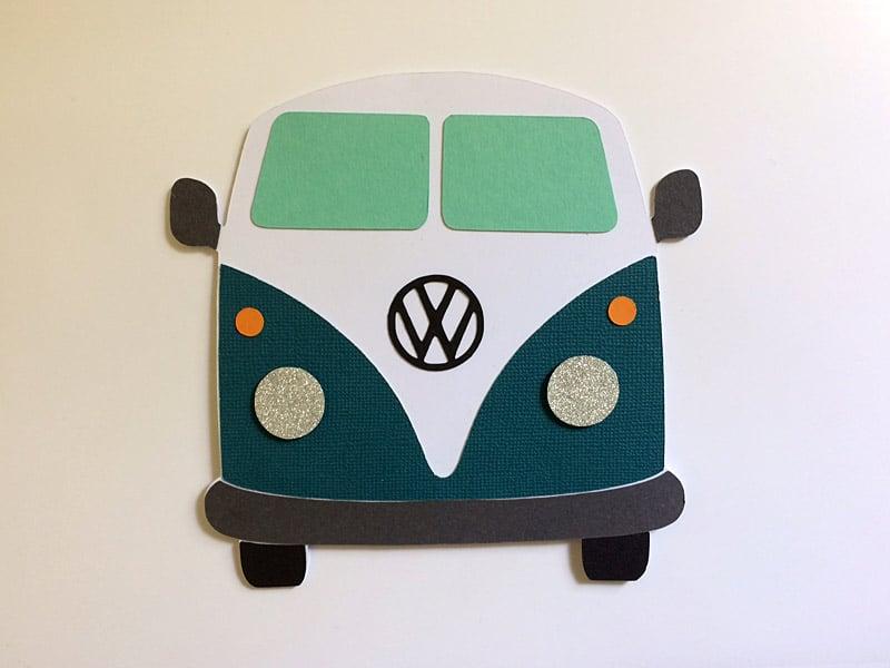 van volkswagen combi kombi t1 carte silhouette cameo portrait card diy transporter bus