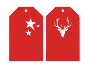 étiquettes cadeaux Noël Christmas label silhouette studio cameo portrait cricut scanncut gratuit free
