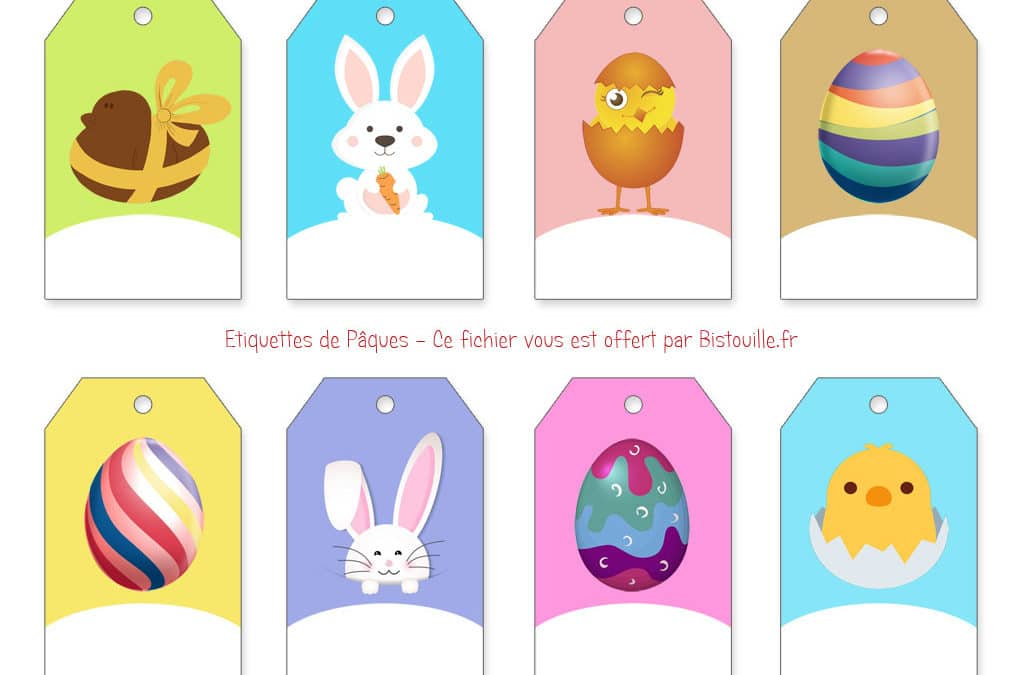 Étiquettes à imprimer pour œufs de Pâques