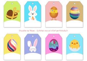 étiquettes oeufs pâques joyeuses happy easter eggs tag print cut free gratuit