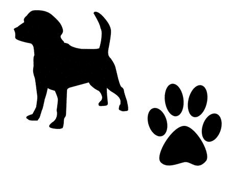 chien fichier svg gratuit silhouette studio cameo portrait cricut scanncut free svg file