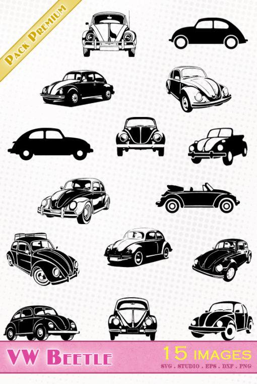 volkswagen beetle vw svg silhouette studio eps dxf png cameo portrait cricut scanncut vector file Escarabajo Käfer Kever Maggiolino