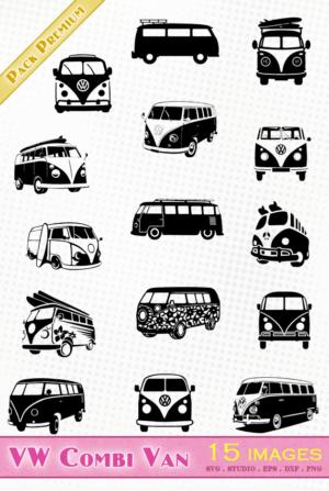 Volkswagen Combi Van – 15 images svg/studio/png/dxf/eps