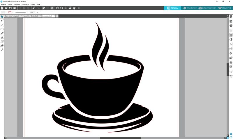 découper contour silhouette studio portrait cameo curio tuto bordure
