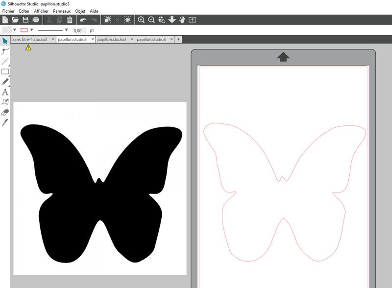 tuto vectorisation manuelle vectoriser manuellement silhouette studio cameo portrait curio mint