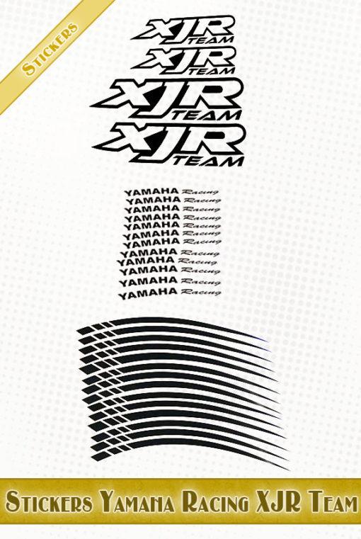 stickers jantes moto Yamaha Racing XJR Team
