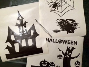 stickers halloween spider pumkin cricut cameo scanncut diy
