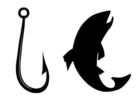 pêche poisson hameçon pêcheur fish fishing fisher svg vector file silhouette studio