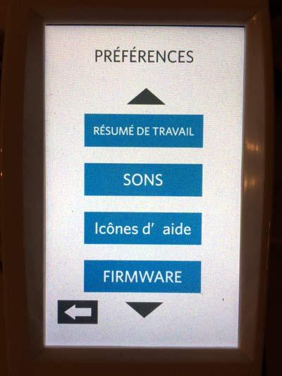 menu silhouette caméo mise à jour firmware