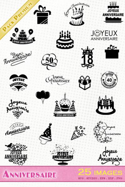 joyeux anniversaire fichier svg eps dxf png silhouette studio file birthday