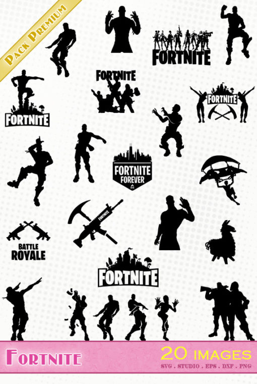 fortnite svg eps dxf png silhouette vector file fichier fort nite fornight fornite