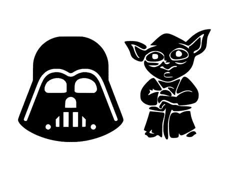 star wars free svg silhouette vector file fichier png yoda dark vador masque mask darth vader