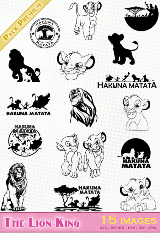 the lion king disney svg eps dxf png ai vector file quality simba scar mufasa nala