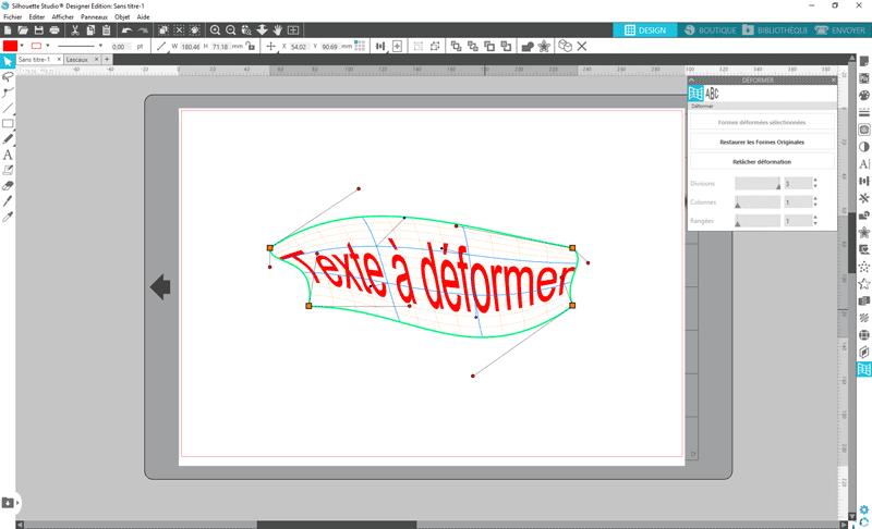 tuto silhouette studio déformation libre texte étirer