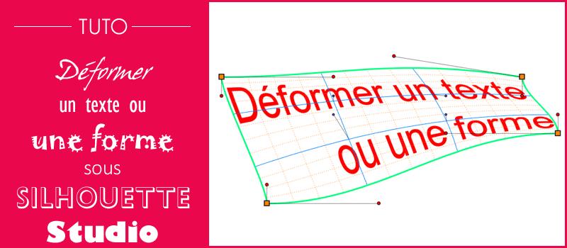 tuto déformer texte forme géométrique tracé créer word art silhouette studio