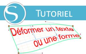 tuto déformation texte forme word art silhouette studio