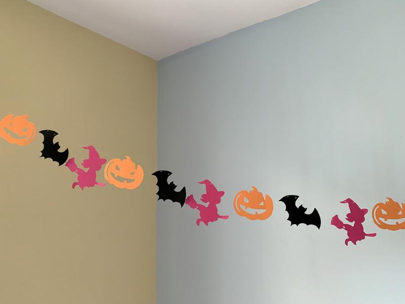guirlande halloween sorcière citrouille chauve souris