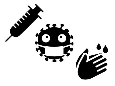 virus maladie coronavirus hygiène lavage mains fichier gratuit svg silhouette studio free