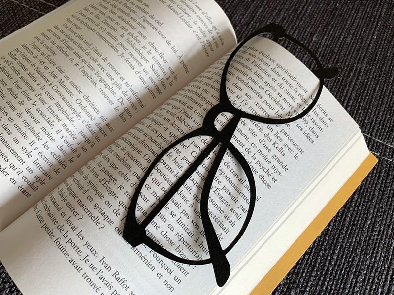 marque page lunettes fichier svg silhouette png livre scrapbooking diy silhouette cameo portrait cricut maker joy explore scanncut