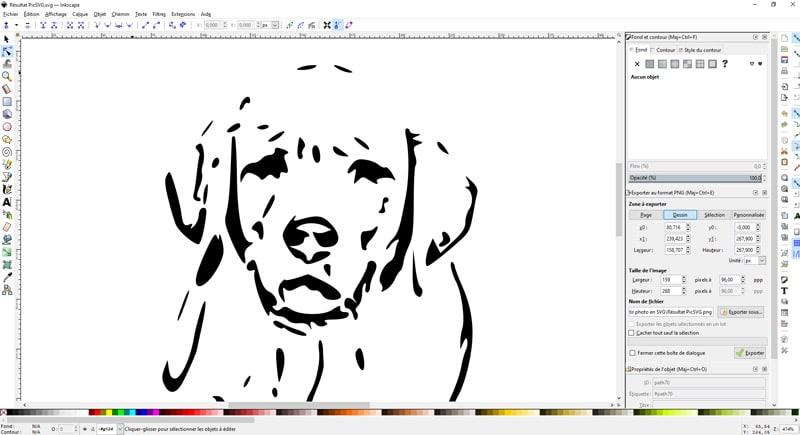 comment convertir photo image en svg convertisseur retouche inkscape