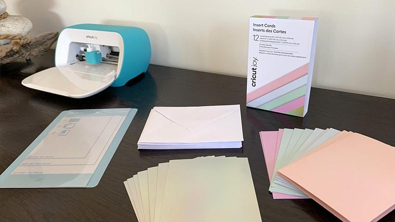 cricut joy fabriquer kit cartes pré rainées tapis découpe