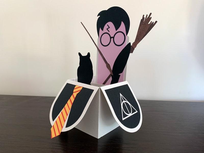 boite explosion cardbox carte boite Harry Potter