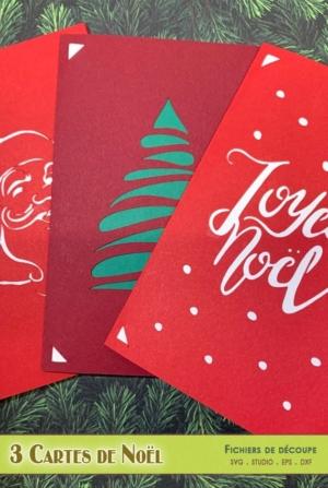 3 cartes de Noël