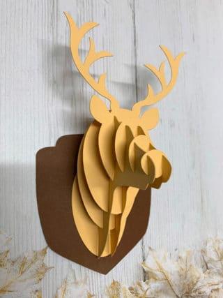 Tête de cerf en 3D