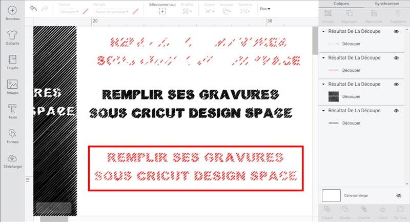 tuto comment remplir gravure cricut design space maker