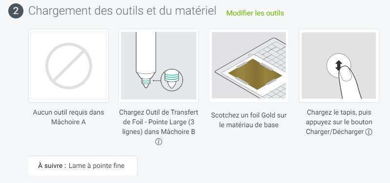 tuto cricut foil transfert kit