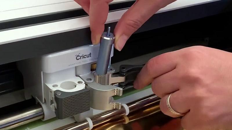 tuto foil cricut emplacement outil machine