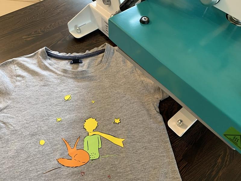flex happyflex presse à chaleur happypress personnalisation t-shirt petit prince