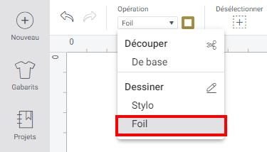 cricut design space tuto foil menu joy