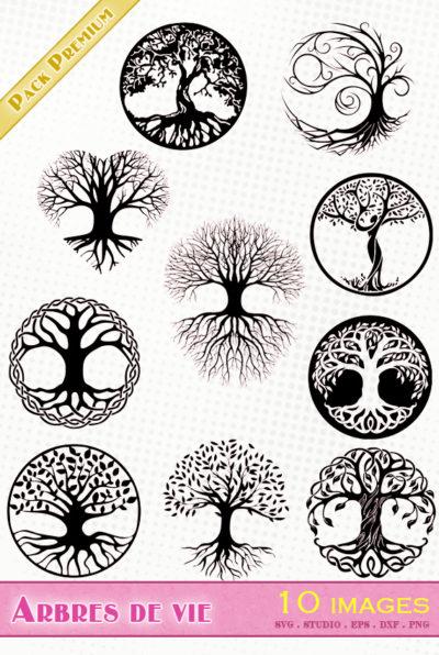 arbre de vie celtique fichier svg eps dxf png silhouette studio vectoriel