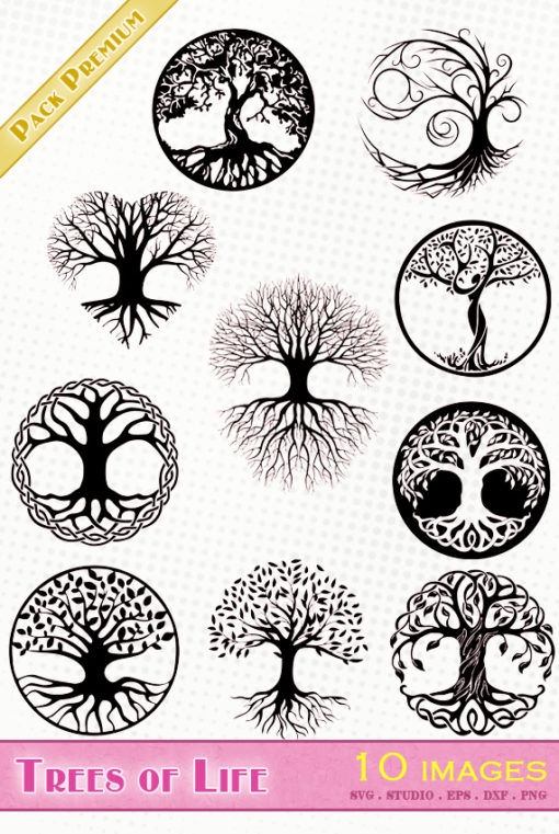 tree of life vector file svg eps dxf silhouette studio png